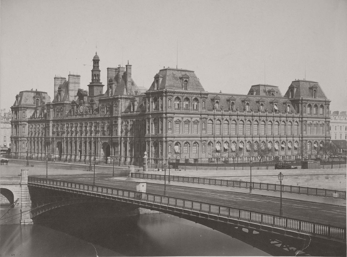 Paris. Old Hôtel de Ville, 1858.