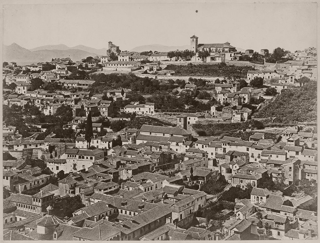 The Albaicin, view from the Alhambra, Granada, 1862