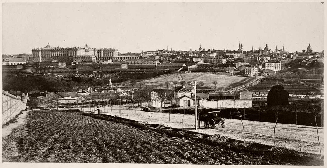 Madrid visto desde el oeste, Charles Clifford, c. 1860.
