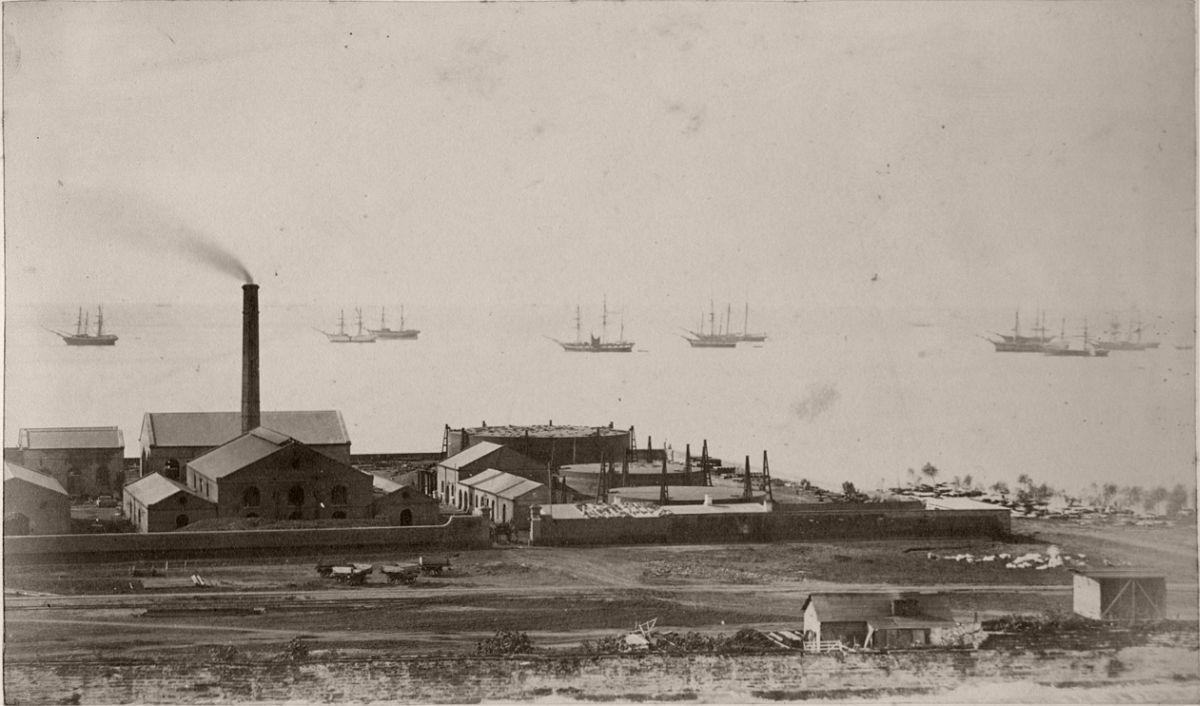 Primera fábrica de gas (Gonnet, 1864)