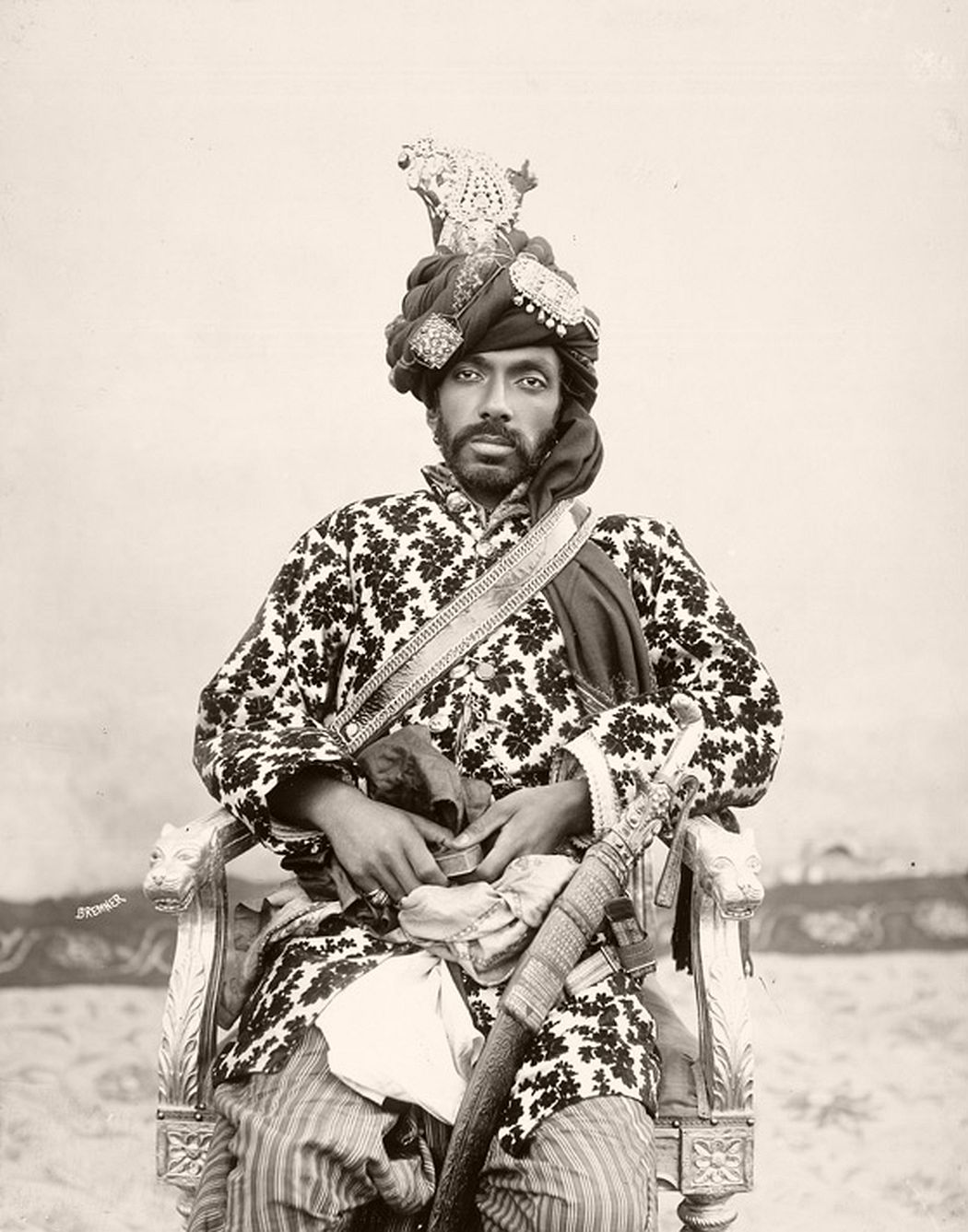 Sir Mir Mohammad Khan, Khan (ruling chief) of Kalat (in Baluchistan), c. 1894