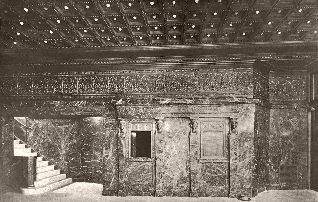 Hudson Theatre box office, 1904