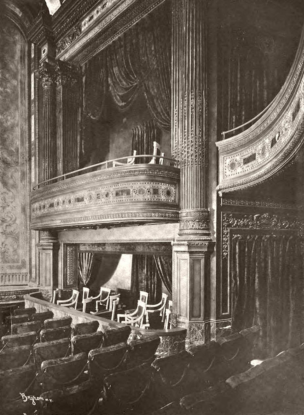 Hudson Theatre boxes, 1904.