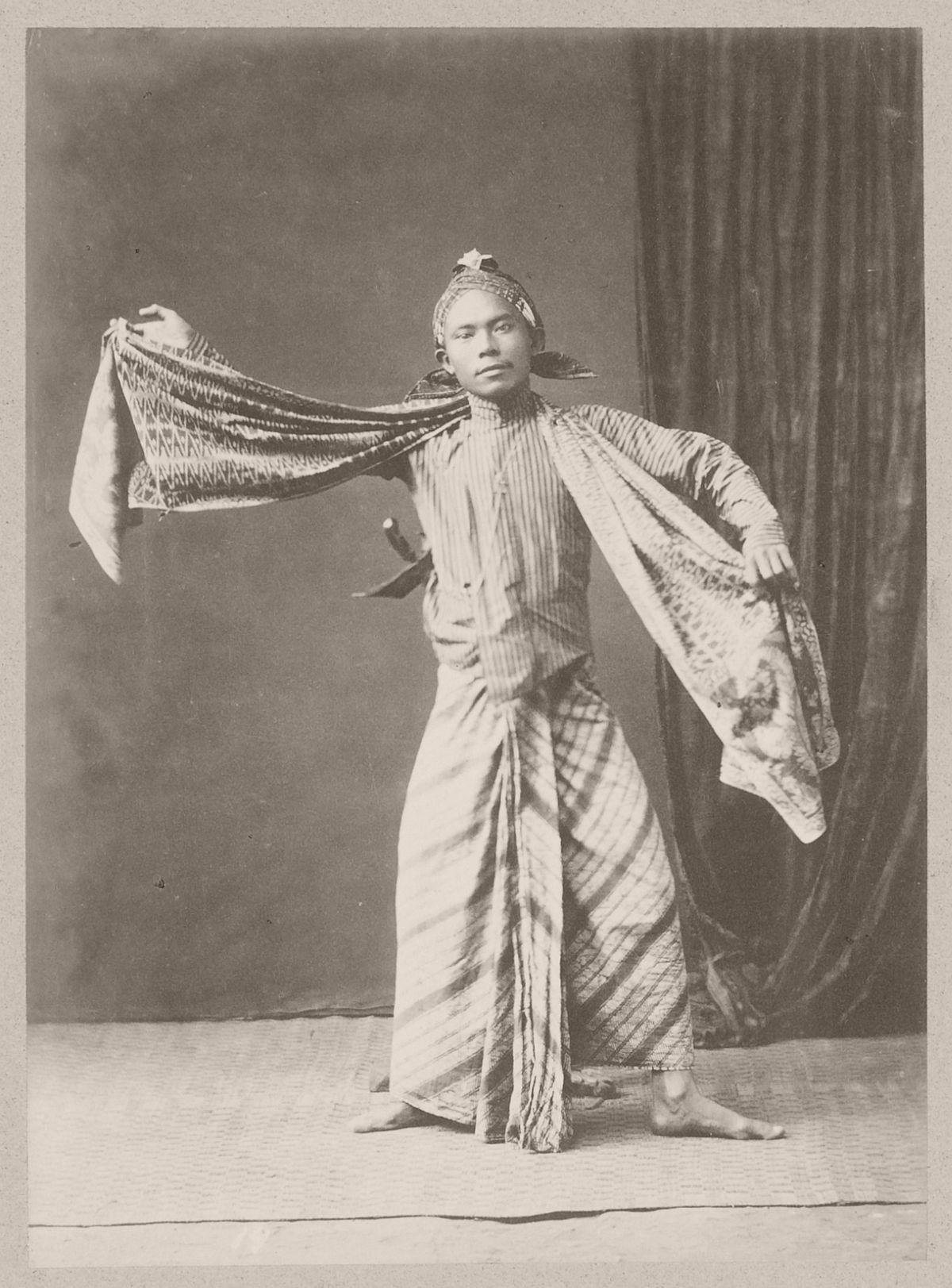 A dancer at Yogyakarta, circa 1900