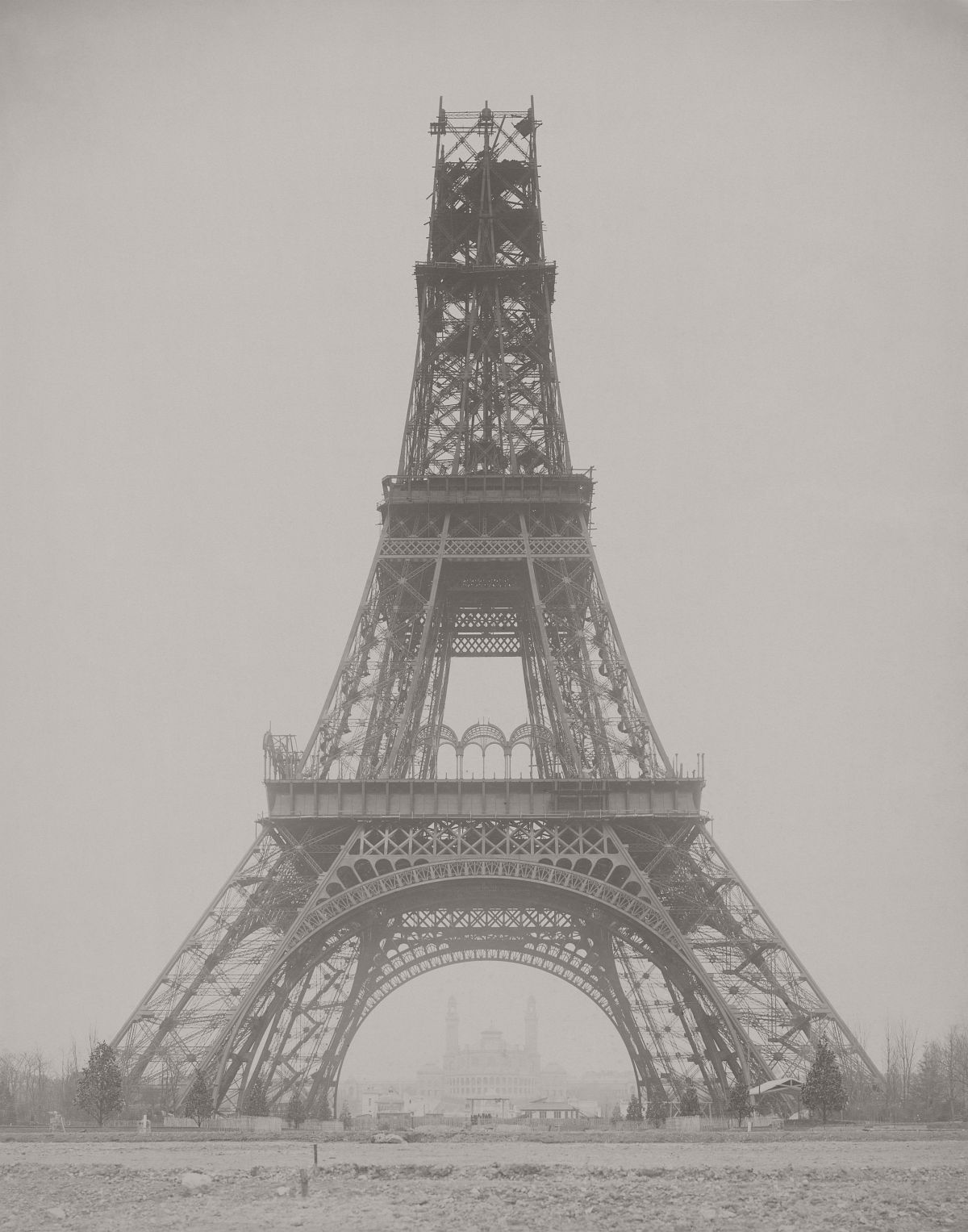 The Eiffel Tower: State of the Construction, Paris, France, November 23, 1888.