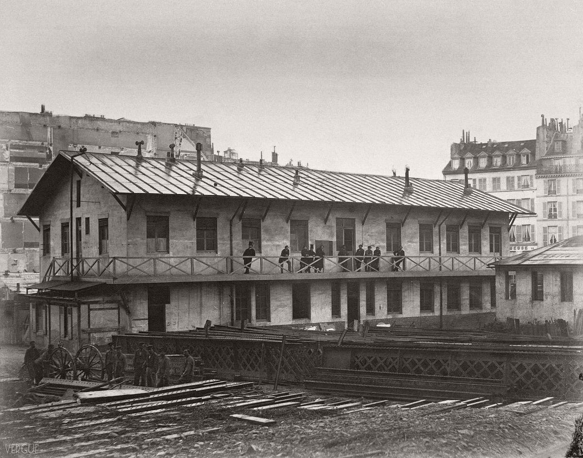 Rue des Mathurins, Paris, France. circa 1866.