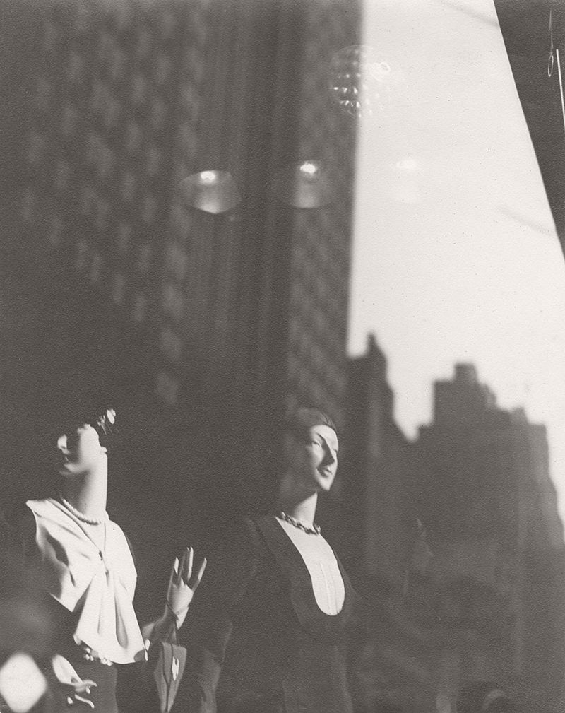 SCHELL, Sherril (1877-1964),  Reflections in New York Shop Window, c. 1930