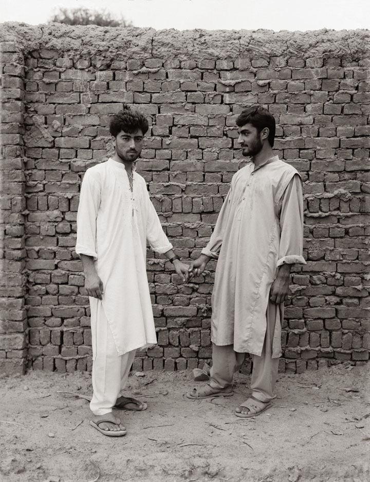 Fazal Sheikh, Dr. Jan's son and friend, Afghan refugee village, Nasirbagh, North West Frontier Province, Pakistan, 1997, from the series The Victor Weeps. © Fazal Sheikh
