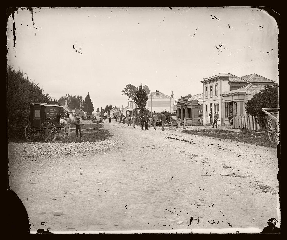 Main street, Masterton looking south, 1875.