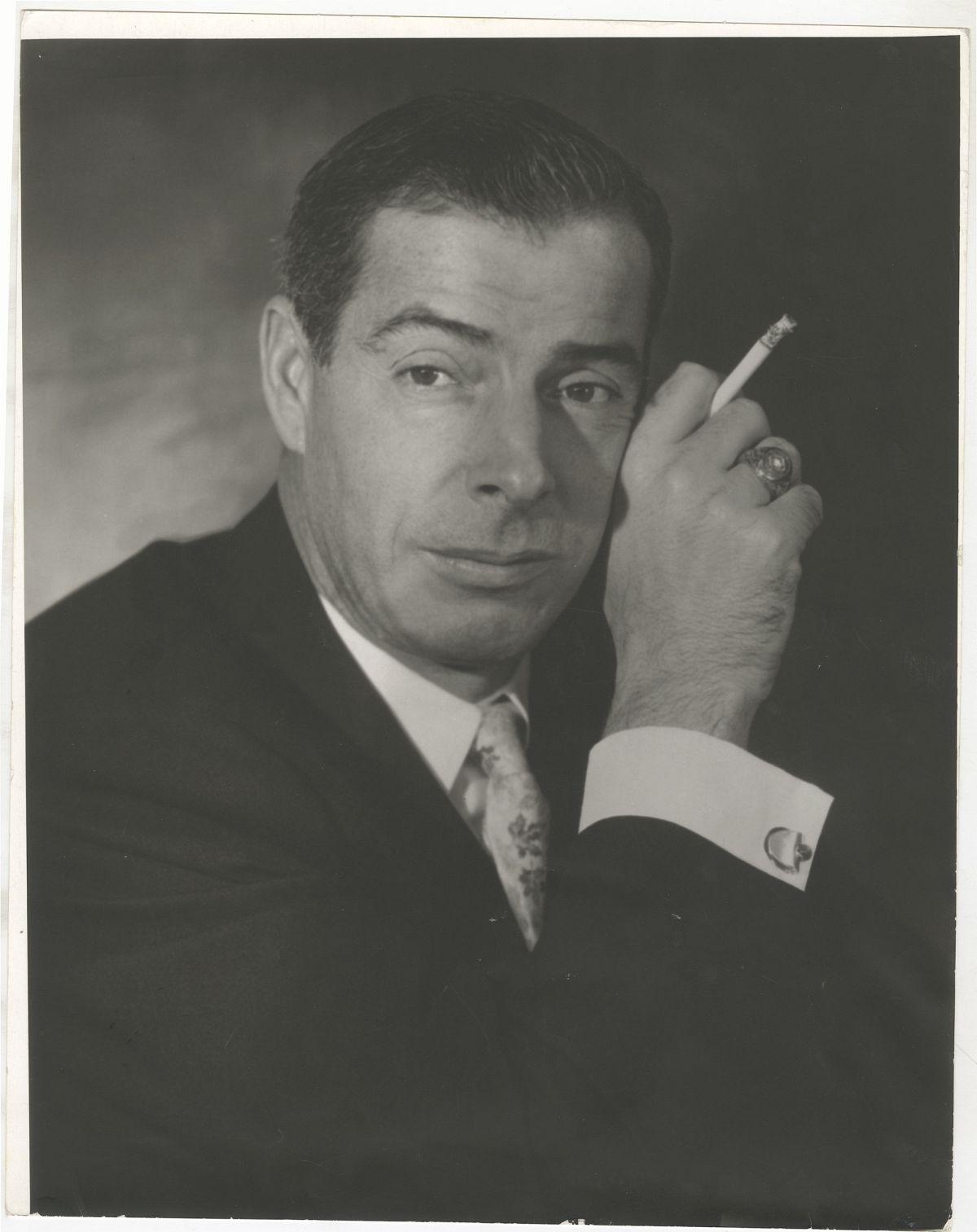Photo: Editta Sherman (1912–2013); Joe DiMaggio; 1955. Gelatin silver print. New-York Historical Society; Gift of Kenneth Sherman.