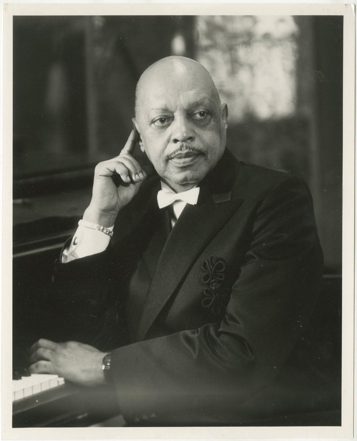 Photo: Editta Sherman (1912–2013); Donald Shirley; ca.1985. Gelatin silver print. New-York Historical Society; Gift of Kenneth Sherman.