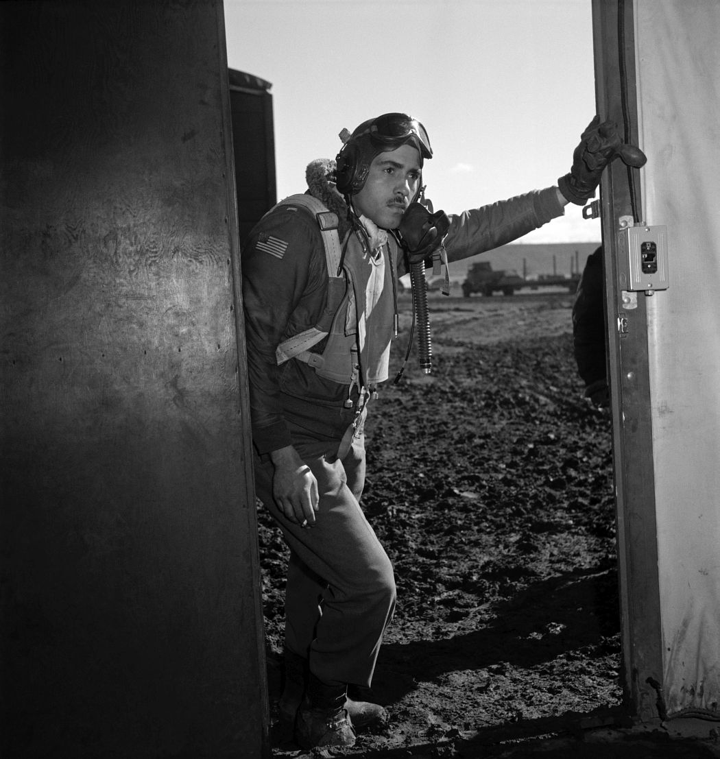 Portrait of Tuskegee airman Edward M. Thomas by Frissell, March 1945.
