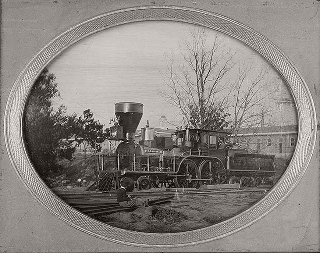 Pacific Railroad locomotive Gasconade, ca. 1855