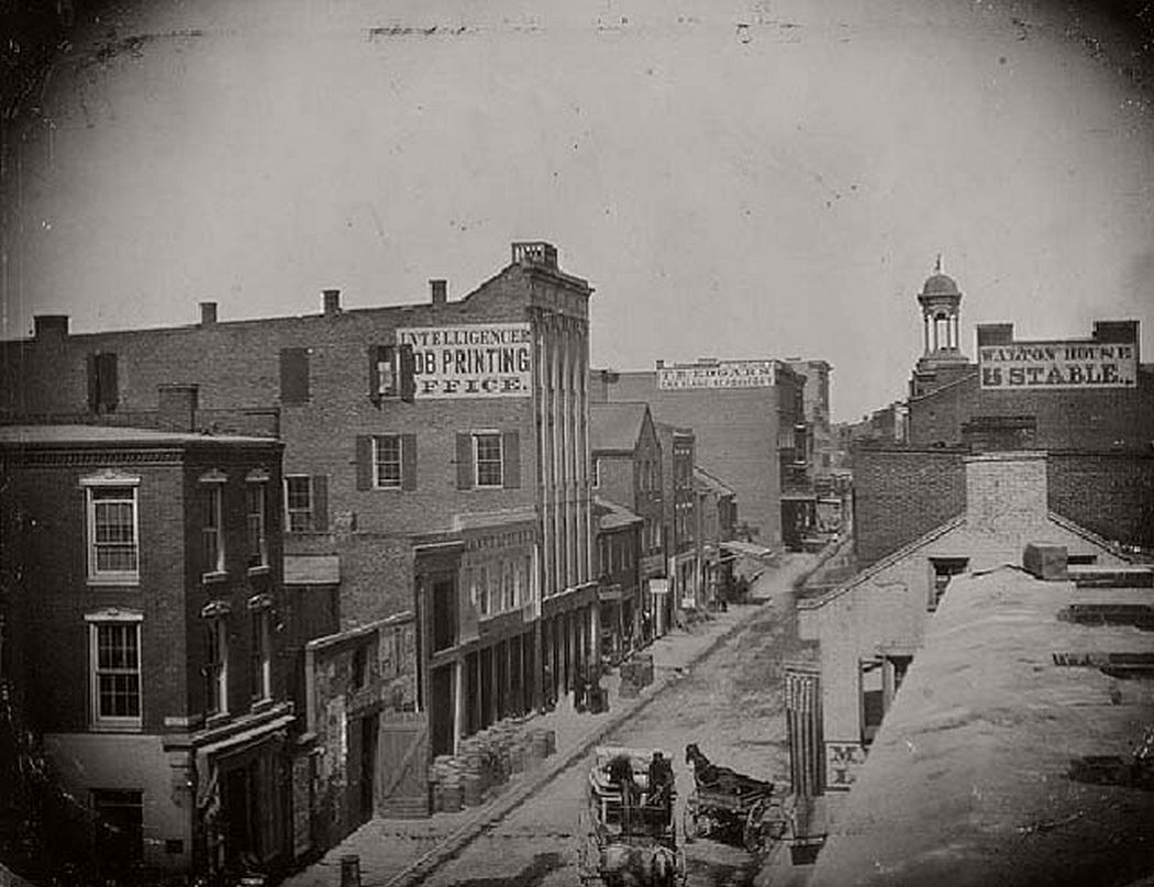 Third Street looking North from Olive, ca. 1854