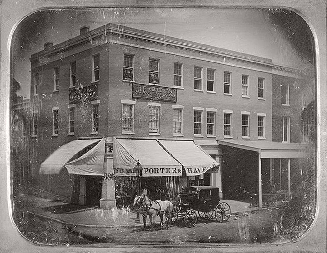 Fourth and Olive Streets, ca. 1851