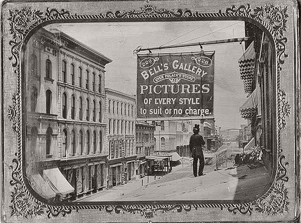 Fourth Street Looking north from Olive, 1870