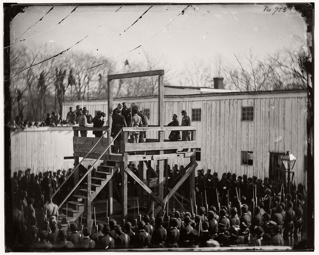 Adjusting the rope for the execution of captain Henry Wirz, Washington, DC, November 10, 1865
