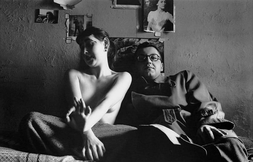 Self portait with Inez, c. 1947. Picture: © Saul Leiter, courtesy Howard Greenberg Gallery, New York / Steidl