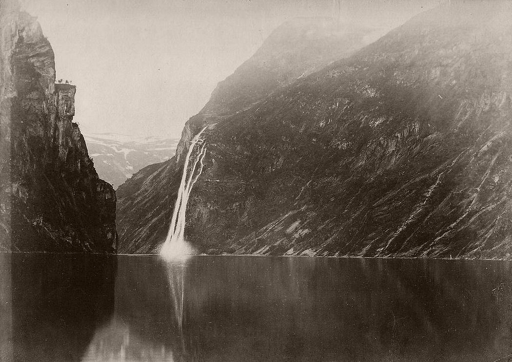 Seven Sisters waterfall in the Geirangerfjord