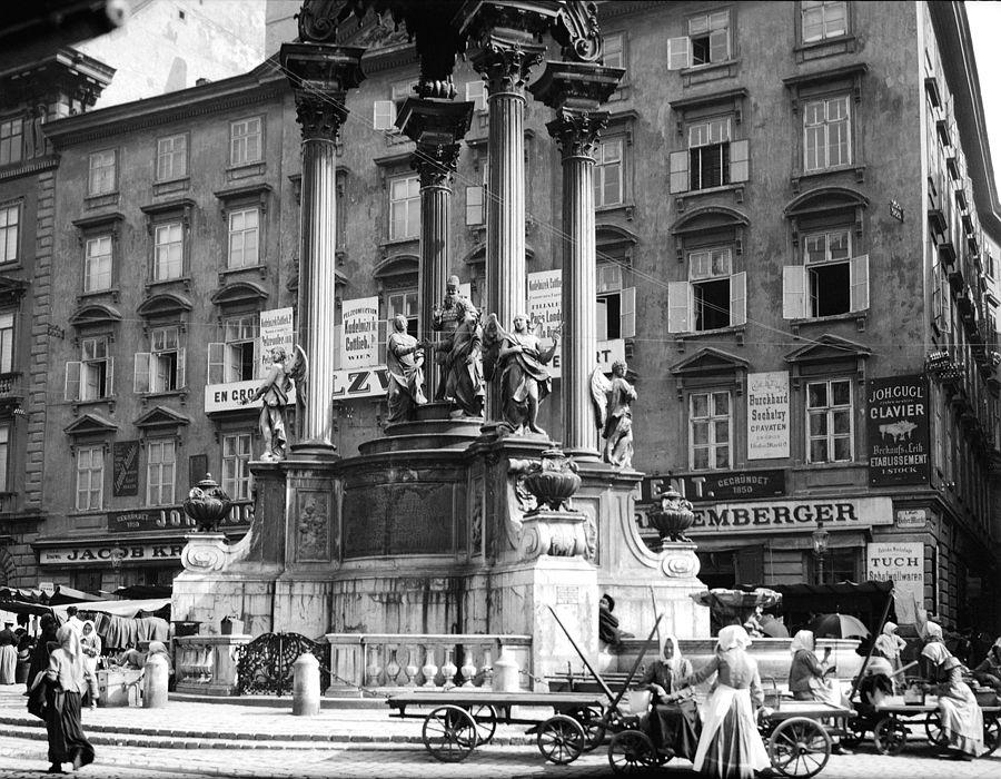 Street Vendors below Josef's Fountain, Vienna