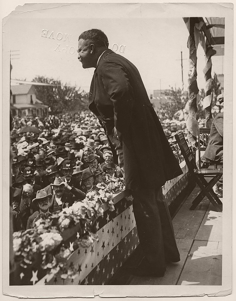President Theodore Roosevelt speaking in North Yakima, Washington. May 25, 1903.