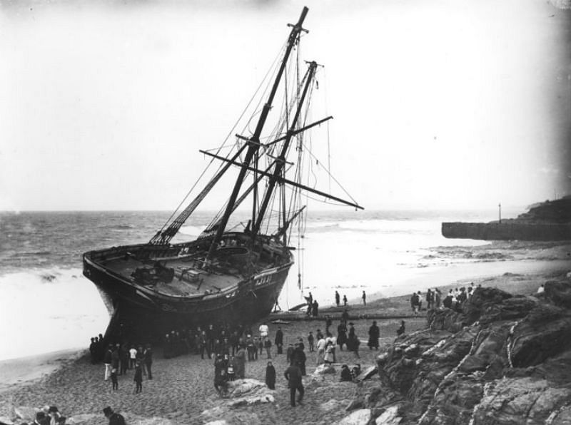 The Cviet, Porthleven, Cornwall, 1884, travelling from St Domingo to Falmouth with logwood.