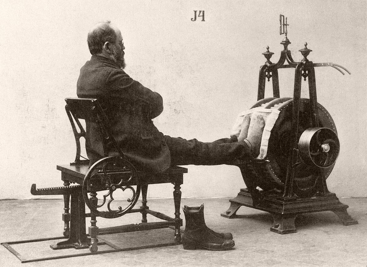 World's First Fitness Machines created by Dr Gustav Zander (Image: Caters)