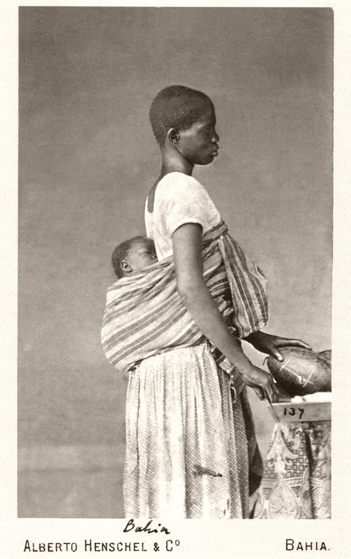 Negra com criança na Bahia. 1870