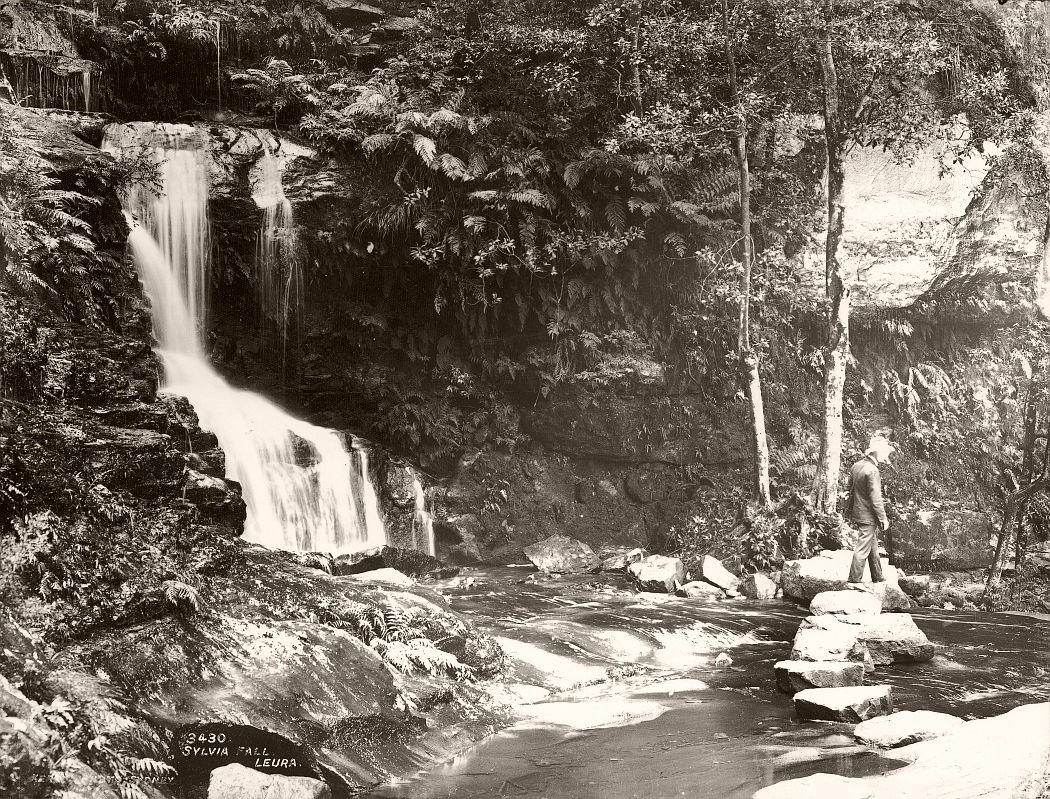 Sylvia Falls, Leura, circa 1900.