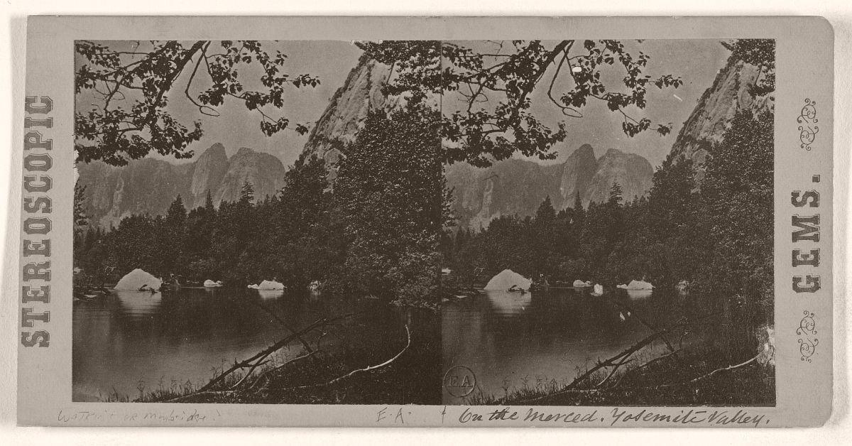 On the Merced, Yosemite Valley, 1868.
