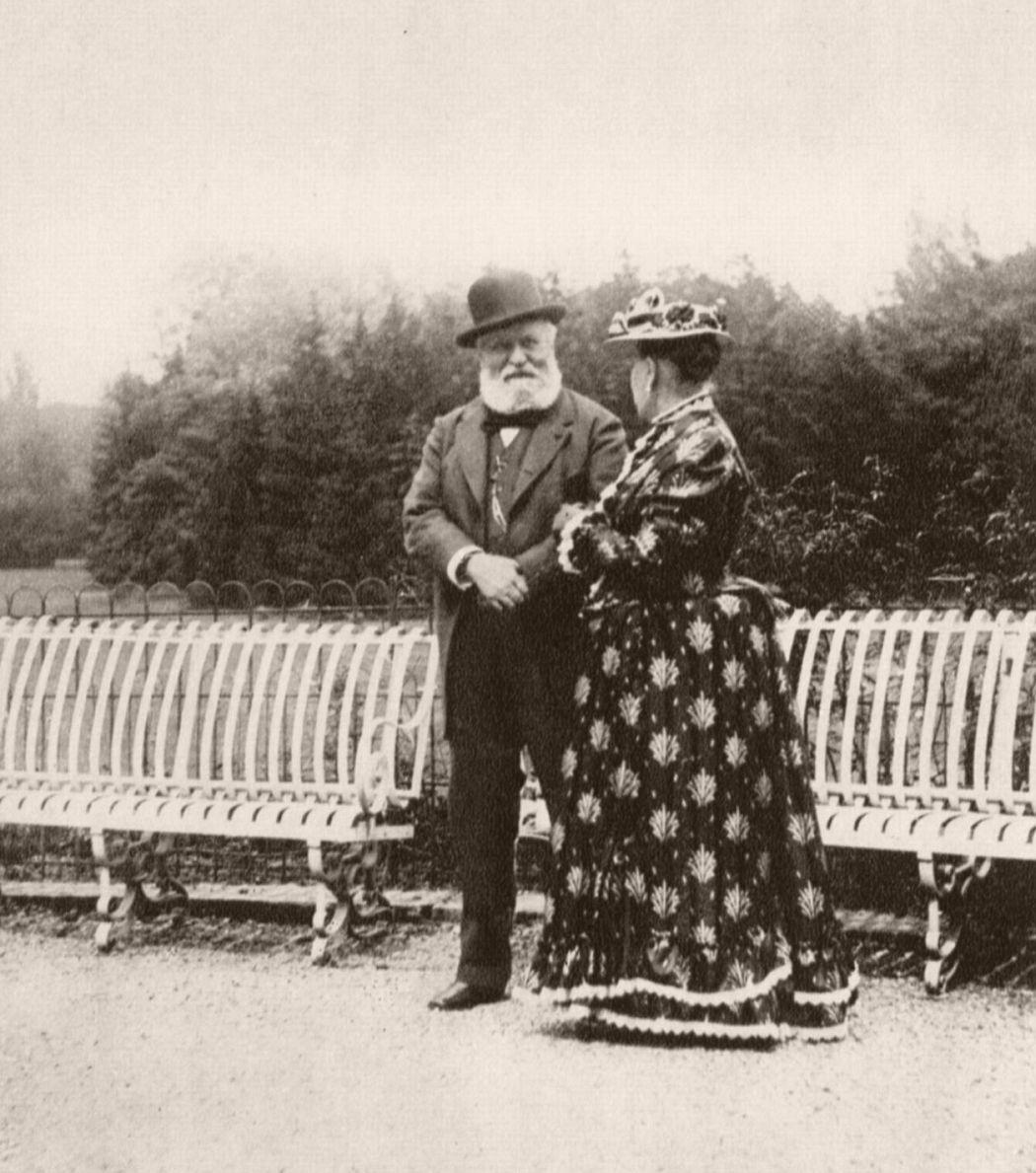 Princess Mathilde Bonaparte and Charles Gounod, 1893. Photo by Giuseppe Primoli