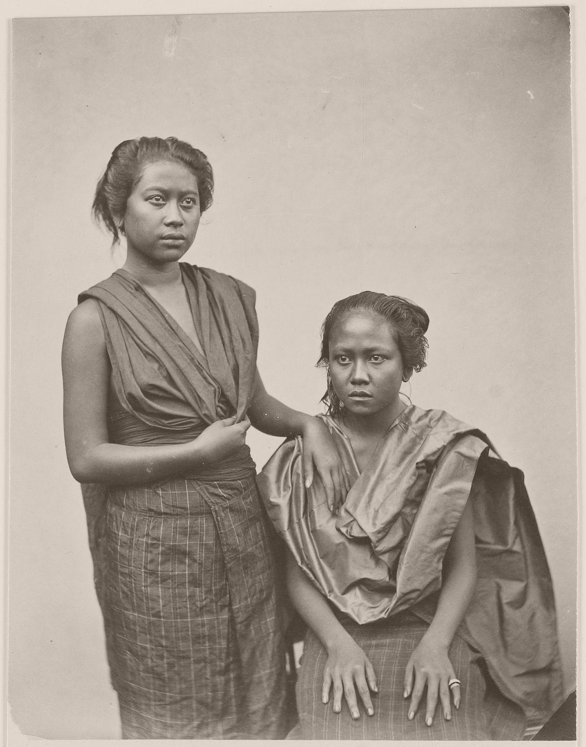 Balinese women, circa 1870.
