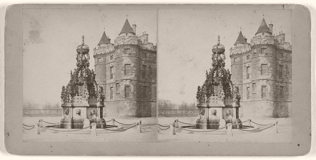 Holyrood Palace (the Fountain), Edinburgh, 1870s.