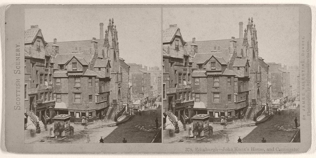 Edinburgh - John Knox's House, and Canongate, 1870s.