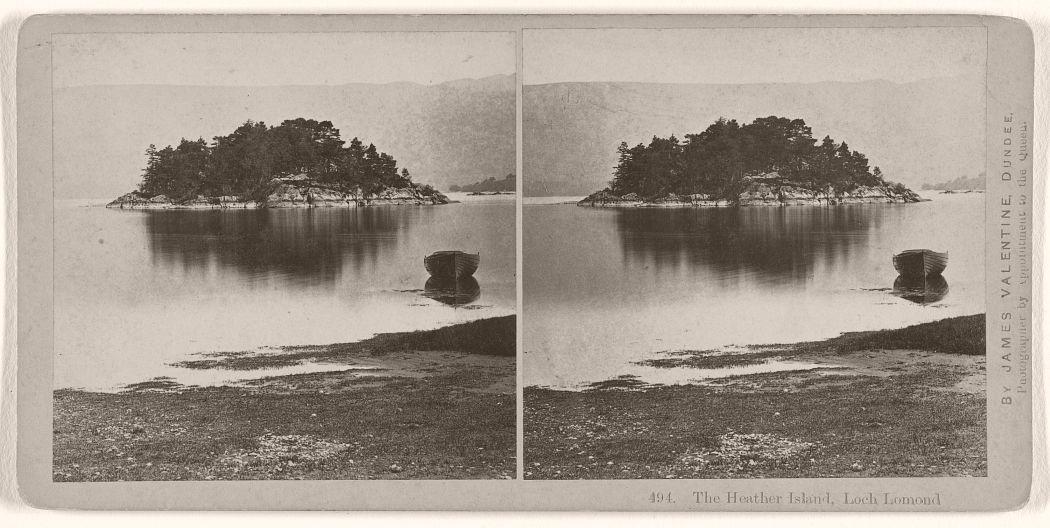 The Heather Island, Loch Lomond, 1870s.