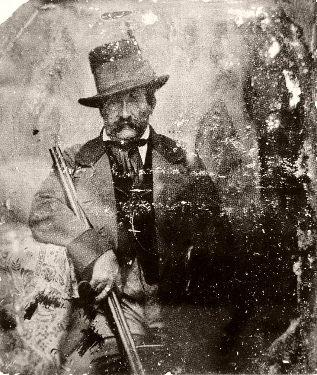 "A portrait of a man"" (his brother-in-law) hyalotype, 1855."