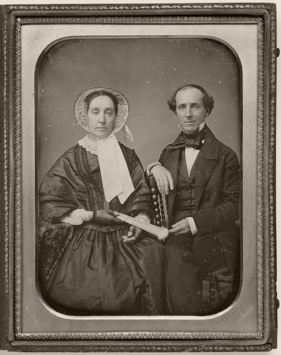 John Keen Hand and Catherine Foering Hand, daguerreotype, circa 1850s.