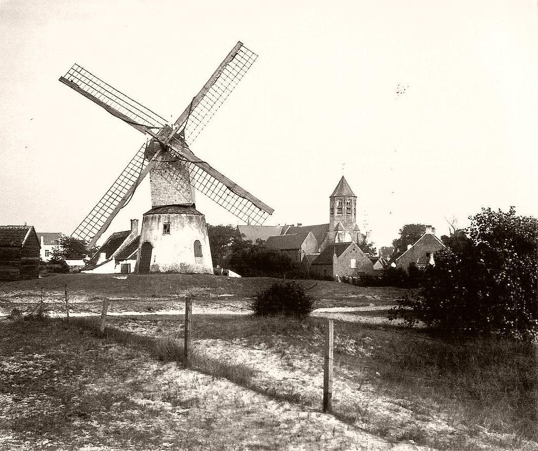 Wind-Mühle in Knokke-Le Zoute in 1904