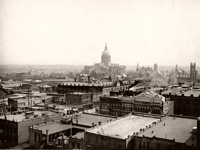 Downtown Atlanta taken from the roof of the Equitable Building, 1895