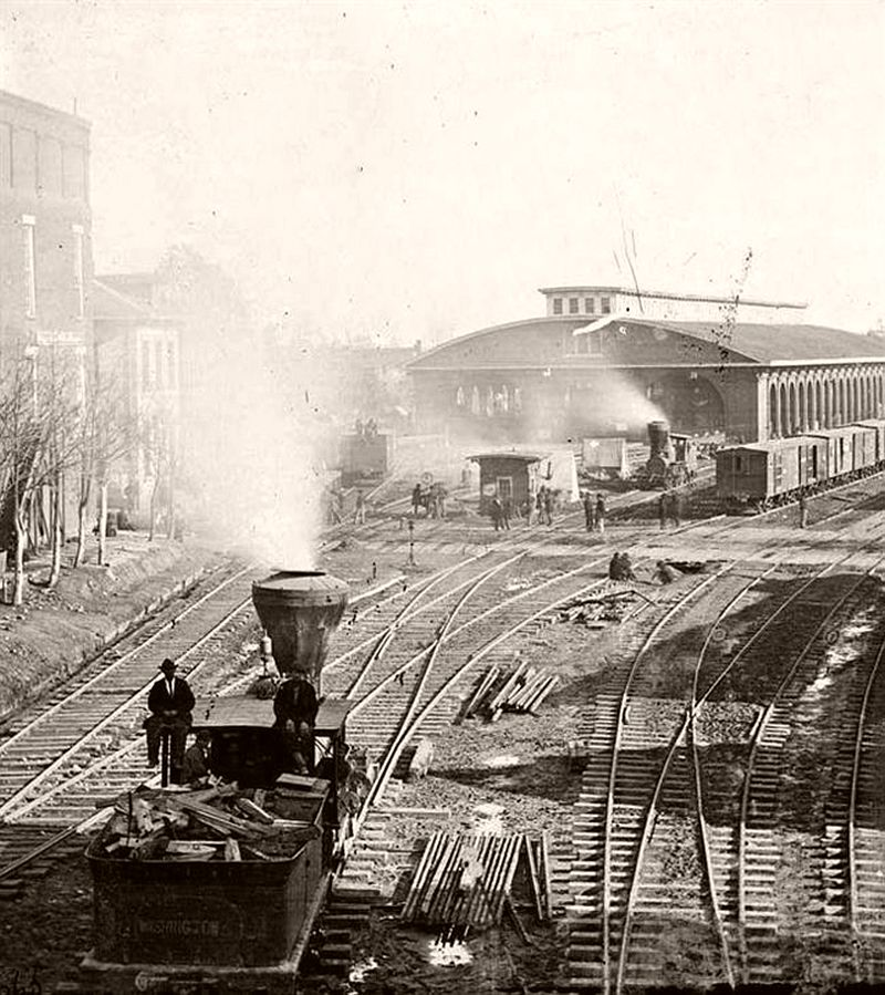 Railroad yards, Atlanta, Georgia, 1864