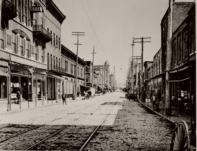 Whitehall Street (now Peachtree Street) from Mitchell Street, 1895