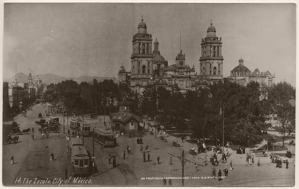 The Zocalo, City of Mexico, 1904