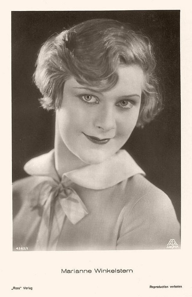German actress Marianne Winkelstern (1910-1966) became well known as a ballerina in Germany and England. In Germany she appeared in some silent films and early sound films.