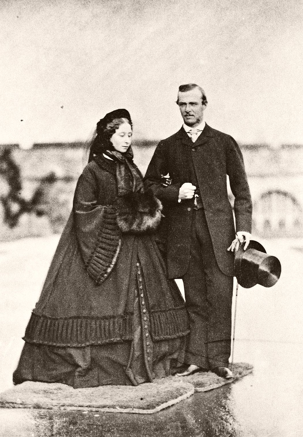Princess Alice of the United Kingdom, with her fiancée Prince Louis of Hesse and by Rhine. 8 December 1860