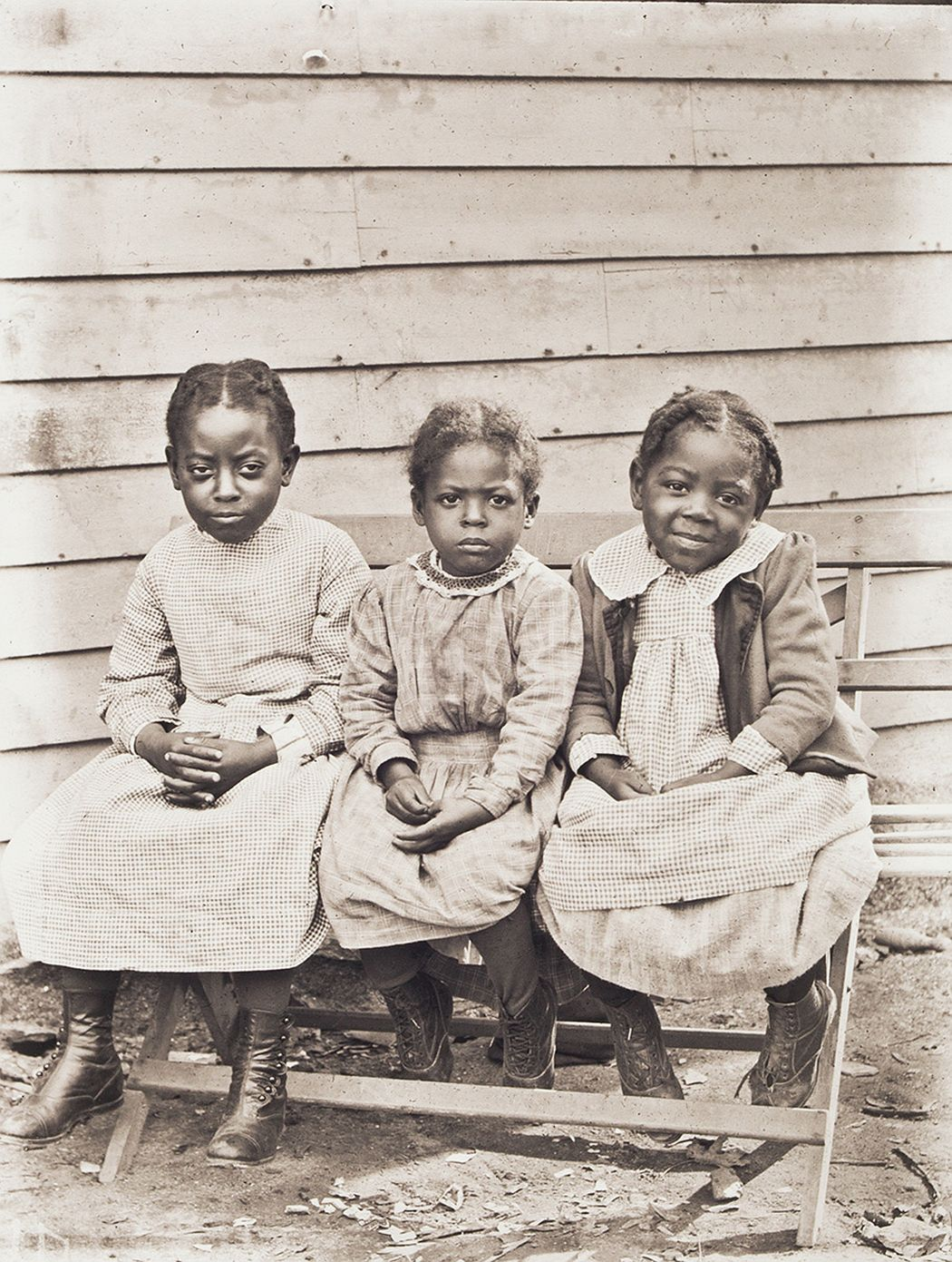 Portrait of Lillian, Cora and Luvenia Ward, about 1900, printed 2016, archival inkjet print, E.132.16.62 Lillian, Luvenia, and Cora Ward were the daughters of former slaves William H. and Arries Ann Ward, from eastern North Carolina. After defending his wife from an attempted rape by a white man, William fled north to Pomfret, Connecticut, where Arries Ann joined him in 1889. They subsequently moved to Worcester and parented eleven children.
