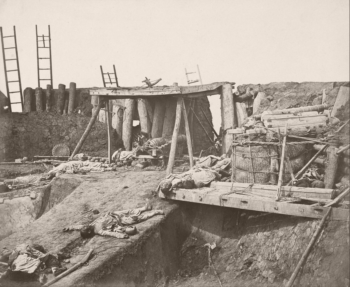 Interior of Fort Taku immediately after capture 21 August 1860