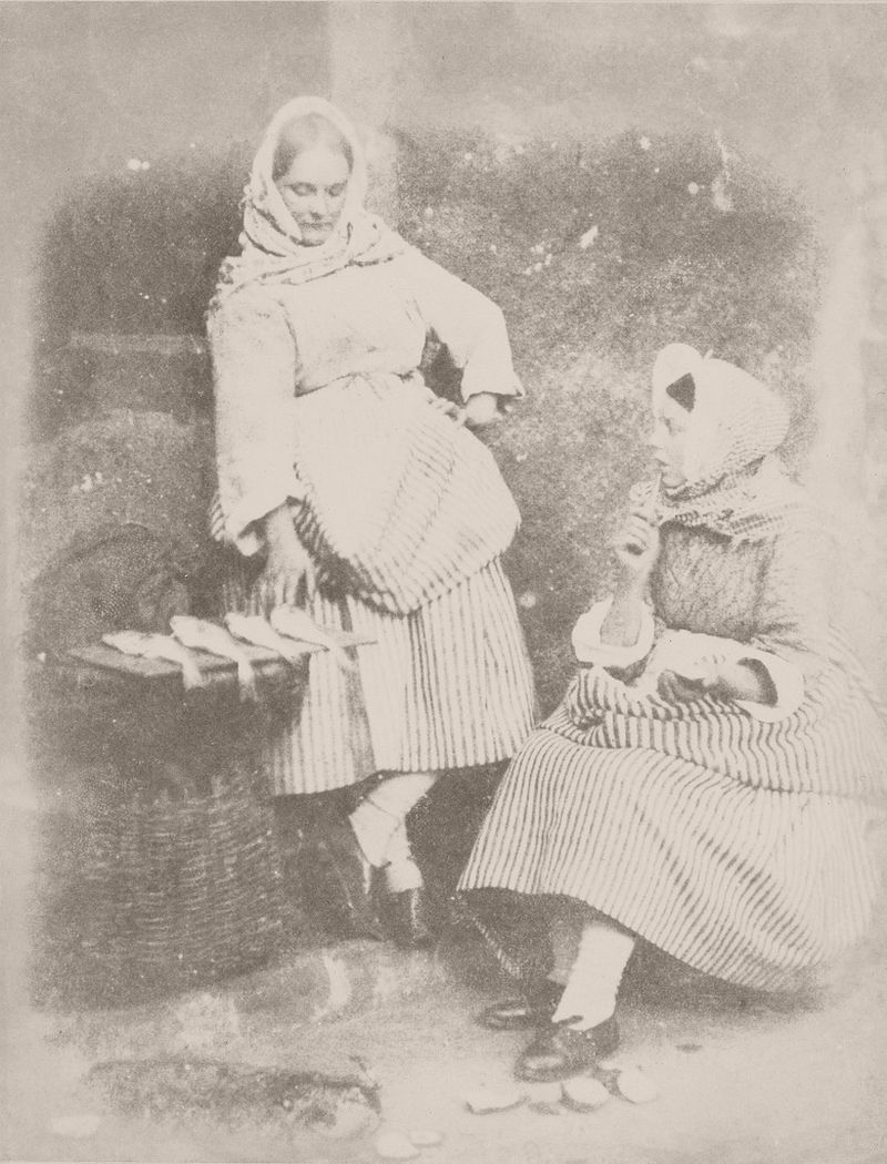 Jeanie Wilson and Annie Linton, Newhaven, 1843