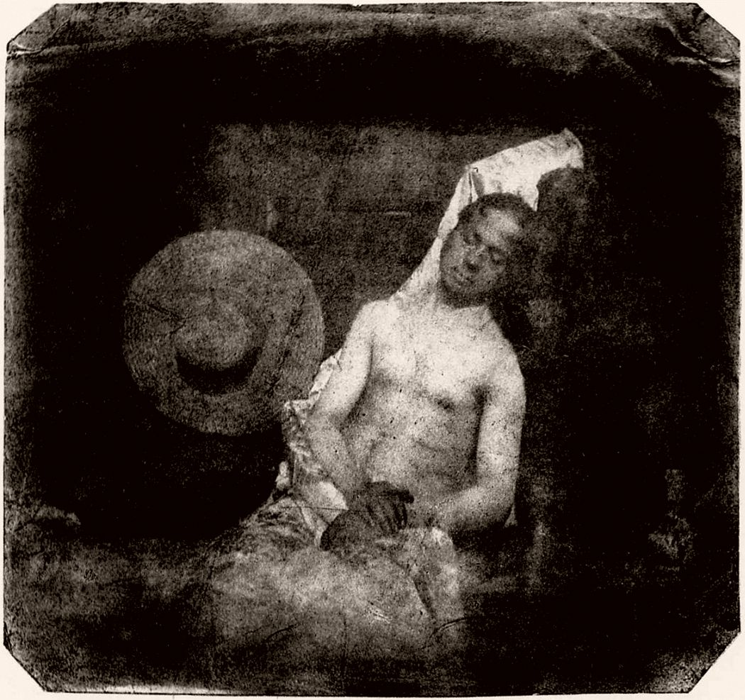 Self portrait as a drowned man, direct positive print