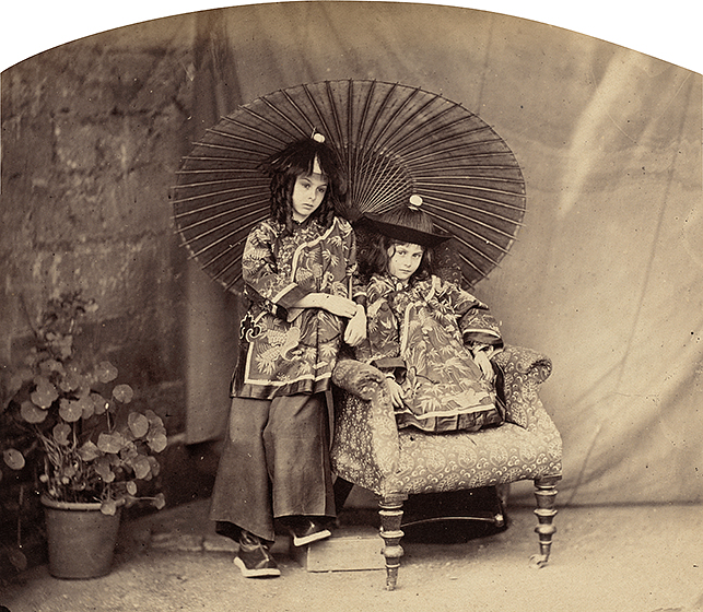 Charles Lutwidge Dodgson (Lewis Carroll), Lorina and Alice Liddell in Chinese Dress, 1860, albumen print, National Gallery of Art, Washington, Pepita Milmore Memorial Fund, Robert B. Menschel and the Vital Projects Fund, The Ahmanson Foundation, and New Century Fund