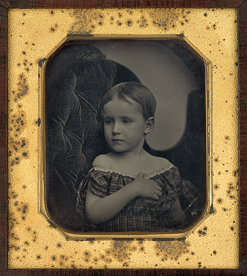 Albert Sands Southworth and Josiah Johnson Hawes, Portrait of a Child, 1850s, daguerreotype, National Gallery of Art, Washington, The Joyce and Robert B. Menschel Fund